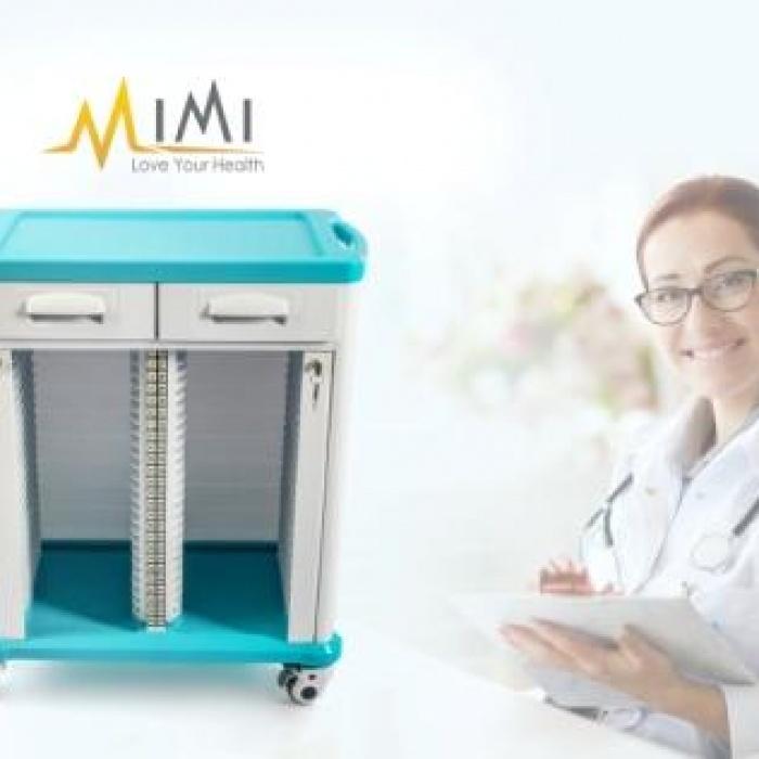 Xe đẩy hồ sơ bệnh nhân XHS-001